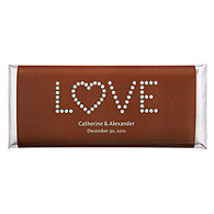 Personalized Large HERSHEY'S® Chocolate Bars - LOVE (Blue/Brown)