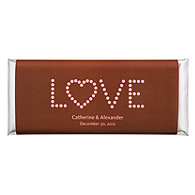 Personalized Large HERSHEY'S® Chocolate Bars - LOVE (Pink/Brown)