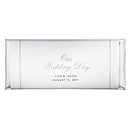Personalized Large HERSHEY'S® Chocolate Bars - Our Wedding Day (Silver)