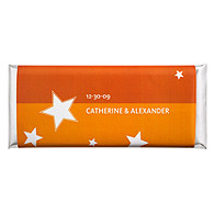 Personalized Large HERSHEY'S® Chocolate Bars - Stars (Orange)
