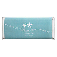 Personalized Large HERSHEY'S® Chocolate Bars - Starfish (Blue)