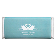 Personalized Large HERSHEY'S® Chocolate Bars - Swans (Blue)