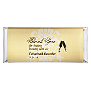 Personalized Large HERSHEY'S® Chocolate Bars - Toasting Flutes (Yellow)