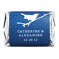 Personalized HERSHEY'S NUGGETS® Chocolates - Bird (Navy)
