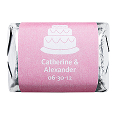 Personalized HERSHEY'S NUGGETS® Chocolates – Cake (Pink)