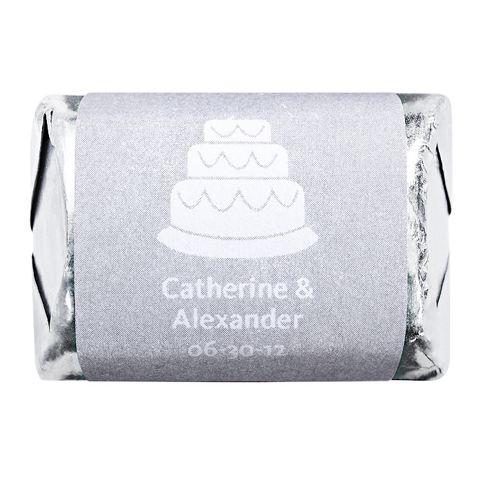 Personalized HERSHEY'S NUGGETS® Chocolates – Cake (Silver)