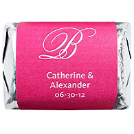 Personalized HERSHEY'S NUGGETS® Chocolates - Initial (Hot Pink)
