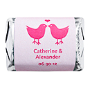Personalized HERSHEY'S NUGGETS® Chocolates - Lovebirds (Pink)