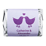 Personalized HERSHEY'S NUGGETS® Chocolates - Lovebirds (Purple)