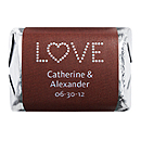 Personalized HERSHEY'S NUGGETS® Chocolates - Love (Blue/Brown)
