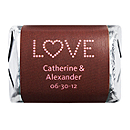 Personalized HERSHEY'S NUGGETS® Chocolates - Love (Pink/Brown)
