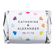 Personalized HERSHEY'S NUGGETS® Chocolates - Multi-Color Hearts