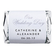 Personalized HERSHEY'S NUGGETS® Chocolates - Our Wedding Day (Silver)