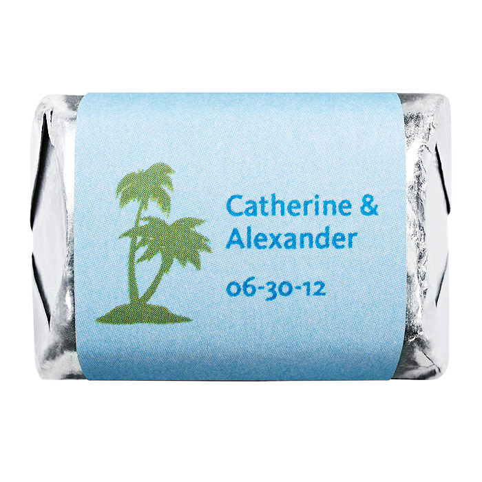 Personalized HERSHEY'S NUGGETS® Chocolates - Palm Trees (Blue)
