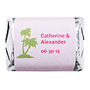 Personalized HERSHEY'S NUGGETS® Chocolates - Palm Trees (Pink)