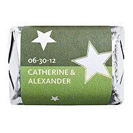Personalized HERSHEY'S NUGGETS® Chocolates - Stars (Green)