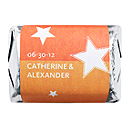 Personalized HERSHEY'S NUGGETS® Chocolates - Stars (Orange)