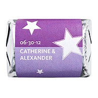 Personalized HERSHEY'S NUGGETS® Chocolates - Stars (Purple)
