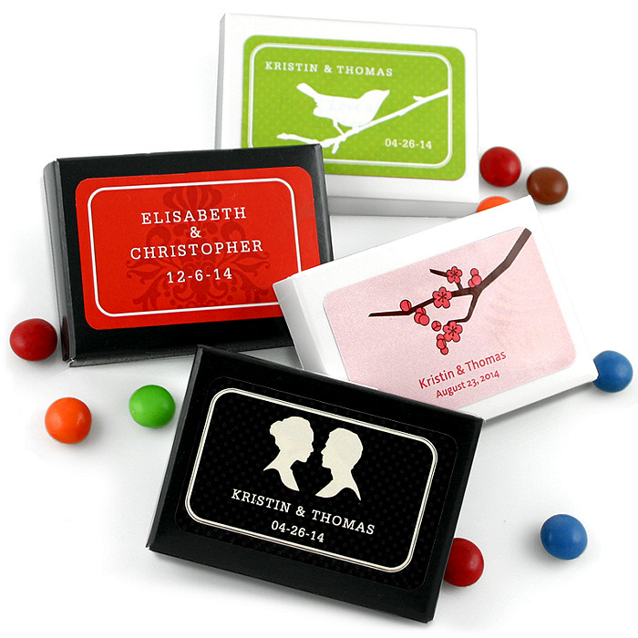 Personalized Chocolate Dot Favor