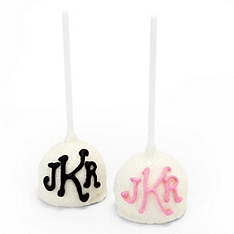 Monogram Cake Pop Favor