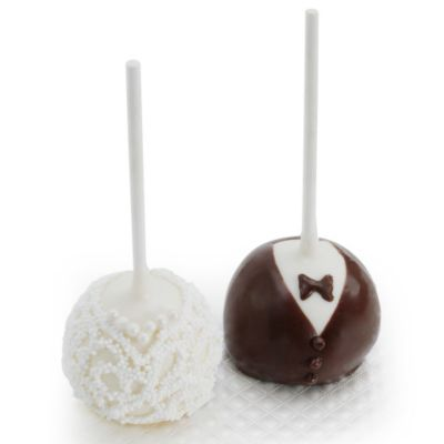 Bride or Groom Cake Pop Favor