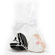 Heart Bride and Groom Cookies