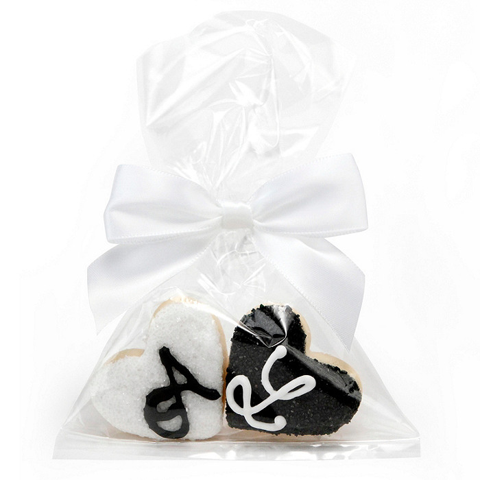 Mini Heart Initial Cookie Favors