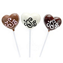 Chocolate Heart Lollipop Favor