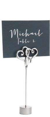 Double Heart Place Card Holders