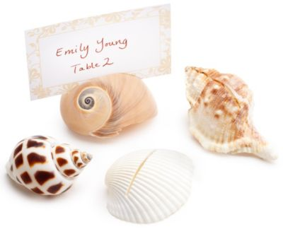Shell Place Card Holders with Cards