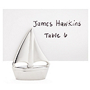 """Shining Sails"" Silver-toned Place Card Holders"