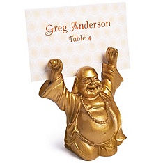 Buddha Place Card Holder - Gold