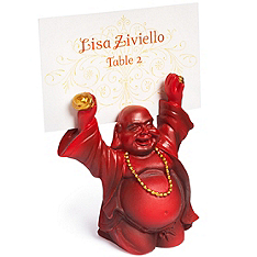 Buddha Place Card Holder - Cinnabar