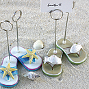 Beachy Flip-Flop Place Card Holder Set