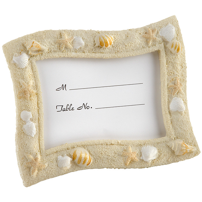 Seaside Sand and Shell Place Card Frame