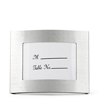 Elegant Curved Place Card Frame