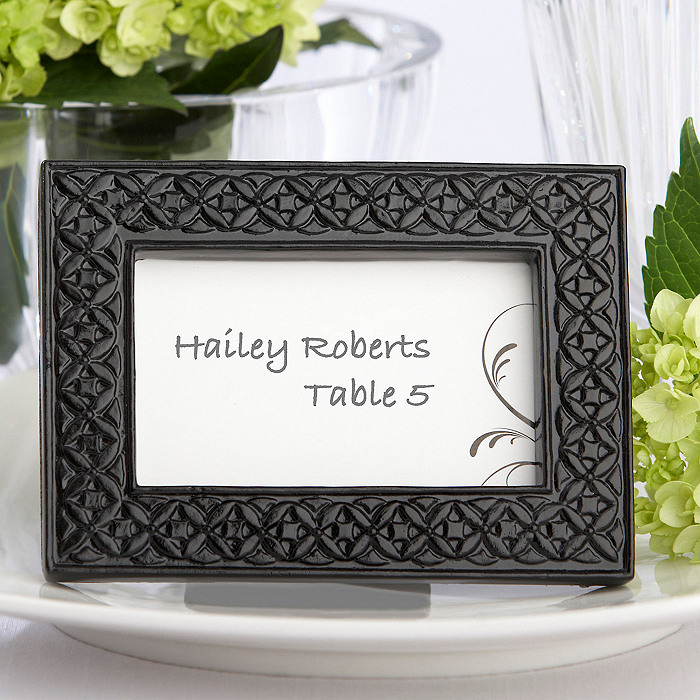 Modern Black Place Card Frame