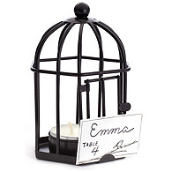 Birdcage Tea Light and Place Card Holder Favor