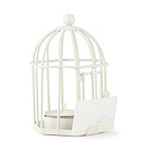 Birdcage Tea Light/Place Card Holder - White