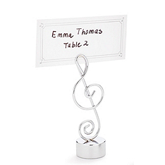 Love Songs Musical Note Place Card Holder