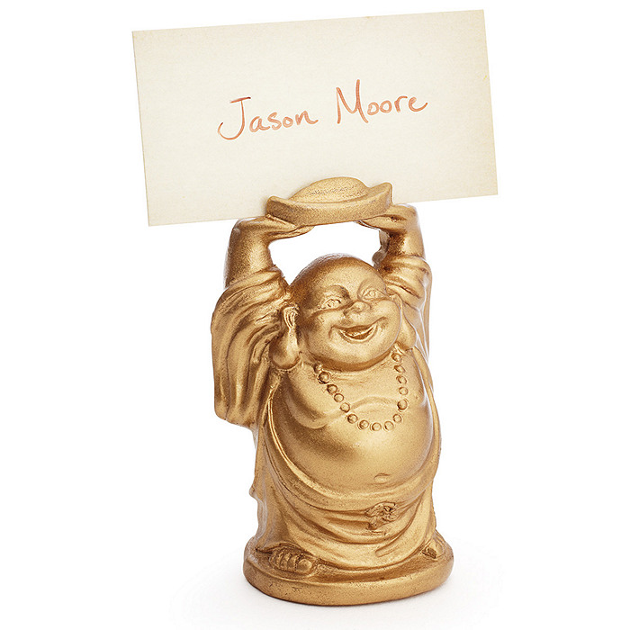 Golden Buddha Place Card Holder