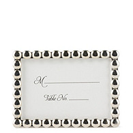 Silver Pearls Place Card Frame