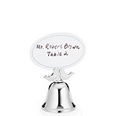 Lovebirds Kissing Bells and Place Card Holders