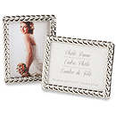 Silver Braided Elegant Place Card/Photo Frame