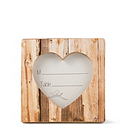 Faux-Wood Heart Place Card/Photo Frame