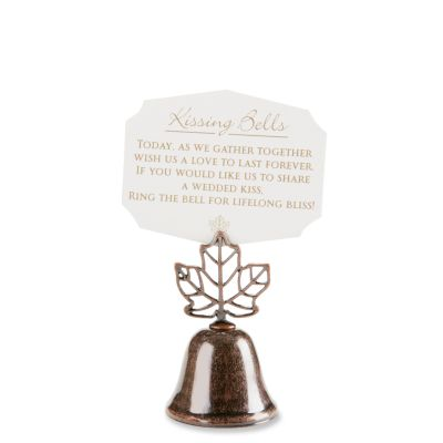 Lustrous Leaf Kissing Bell Place Card Holders