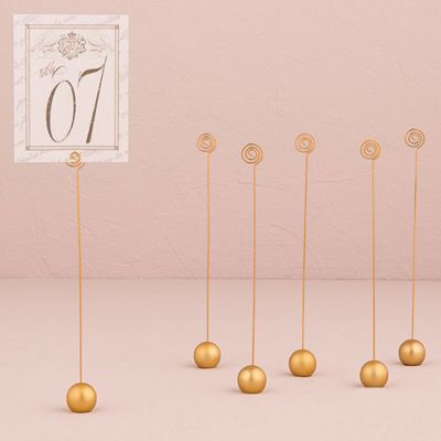 Gold Classic Round Table Number Holders