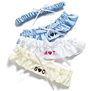 Personalized Heart Initial Garter