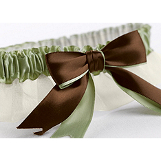 Two-Ribbon Custom Color Garter - Ivory