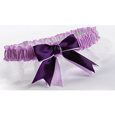 Two-Ribbon Custom Color Garter - White